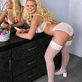 Hot white stockings perfect.